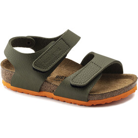 Birkenstock Palu Logo Sandals Birko-Flor Narrow Kids, desert soil green orange